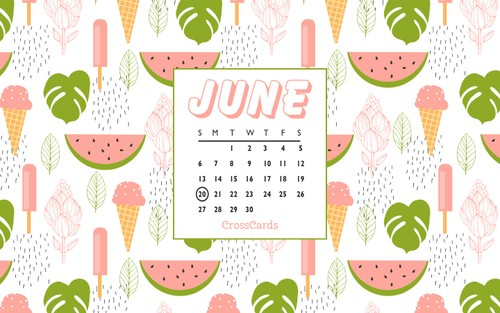 June 2021 - Watermelons ecard, online card