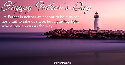 Father's Day Guiding Light ecard, online card