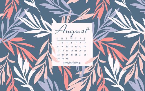 August 2021 - Floral ecard, online card