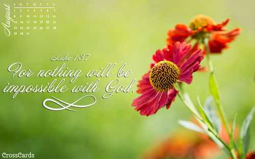 August 2021 - With God... ecard, online card