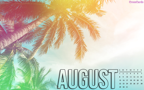 August 2021 - Palm Trees ecard, online card