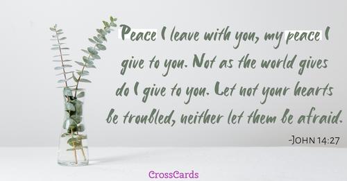 John 14:27 - Peace