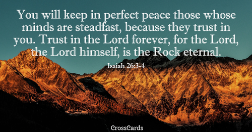 Isaiah 26:3-4 Perfect Peace ecard, online card