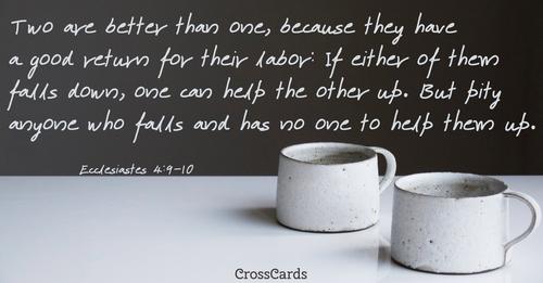 Ecclesiastes 4:9-10 ecard, online card