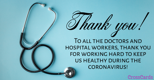 Thank You Doctors! ecard, online card