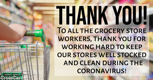 Thank You Grocery Store Workers! ecard, online card
