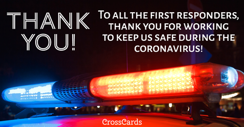 Thank You First Responders! ecard, online card