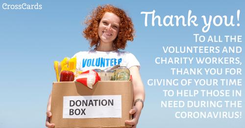 Thank You Volunteers! ecard, online card