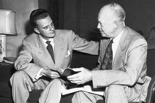Billy Graham with President Eisenhower