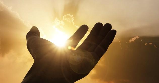 hand open to sky