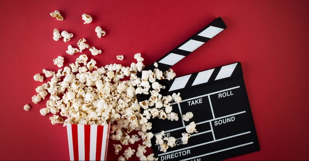 Popcorn and Movie Clapboard