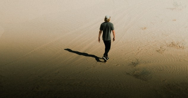 young man walking through desert alone, affirmations for parents of prodigal child