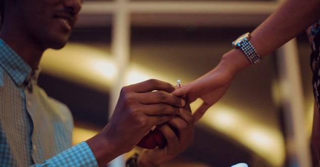 man proposing engagement