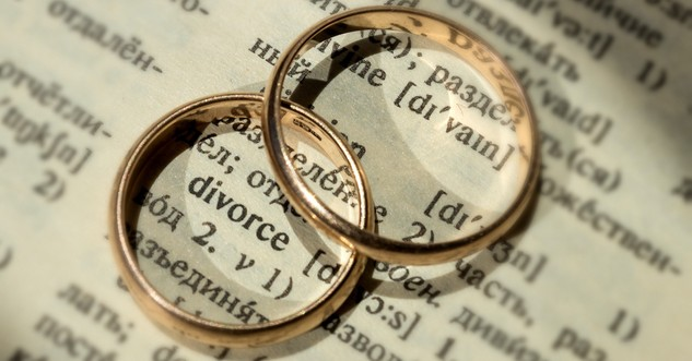 wedding bands on top of dictionary page with word divorce, what the Bible says about divorce