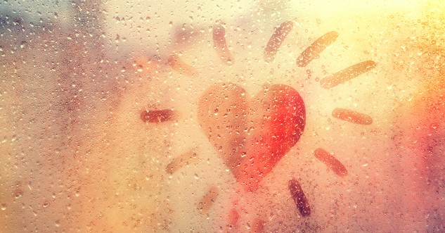 heart shape on window with bright light behind it, Bible verses about joy