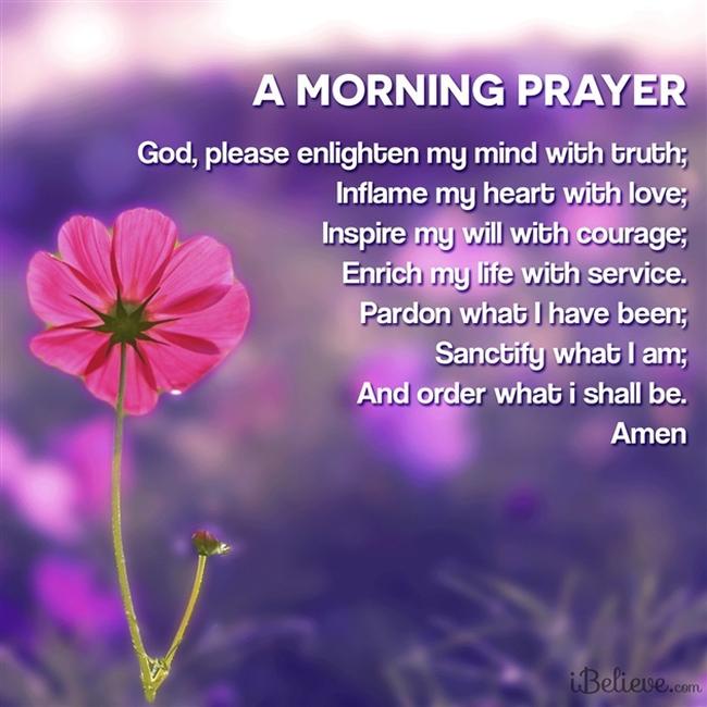 Morning prayer before starting work