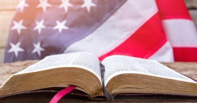 open bible american flag background patriotism christian
