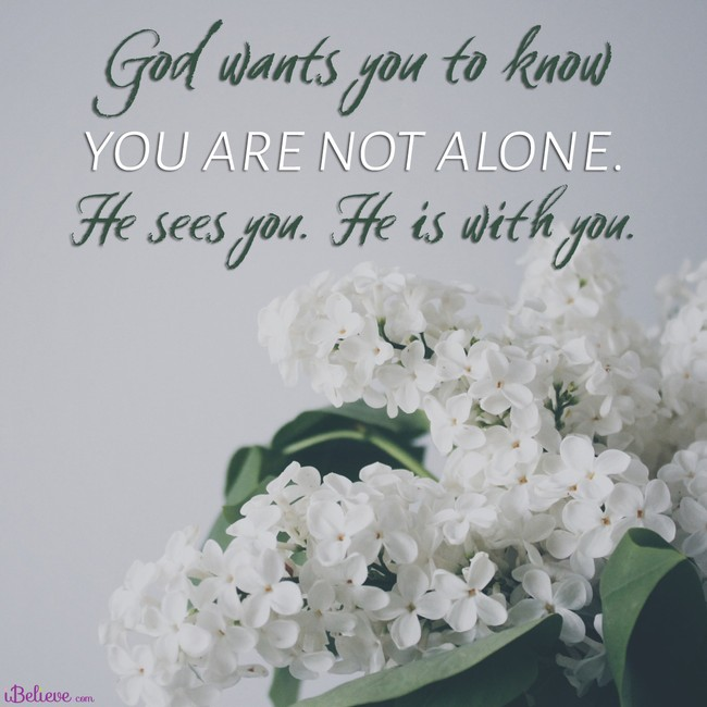 You are not alone; inspirational image