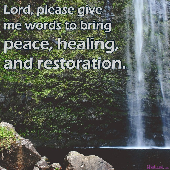 a prayer for words, inspirational image