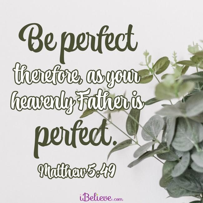 Matthew 5:49, inspirational image