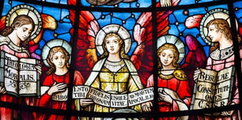 christmas angels stained glass