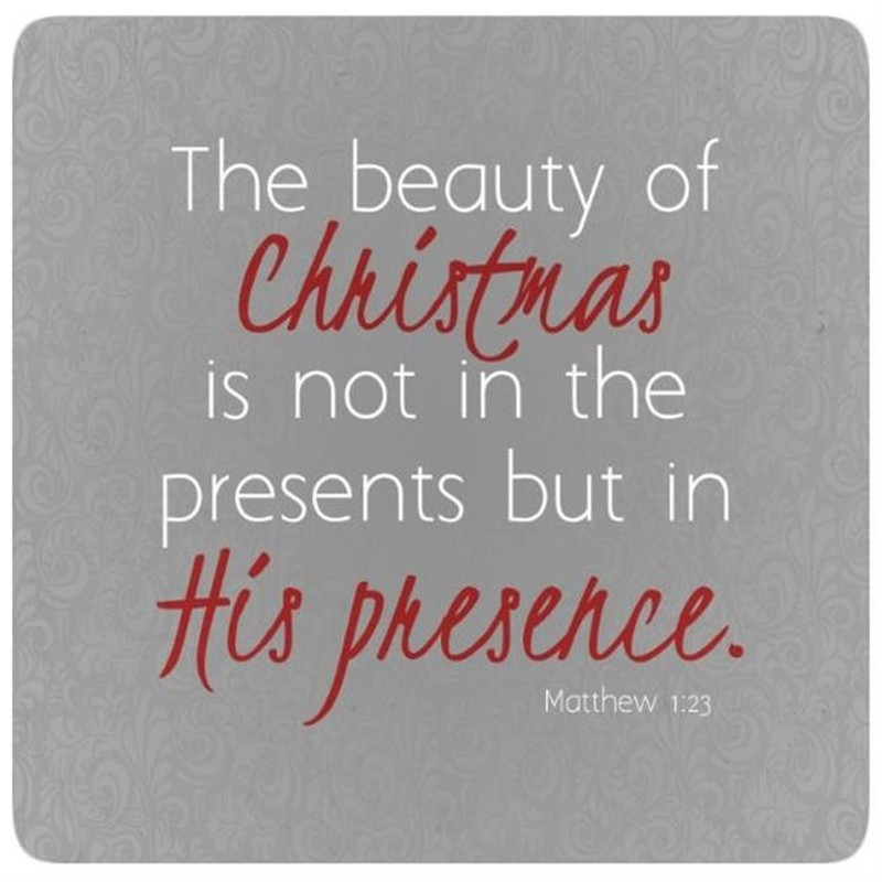 Not In the Presents, but In His Presence