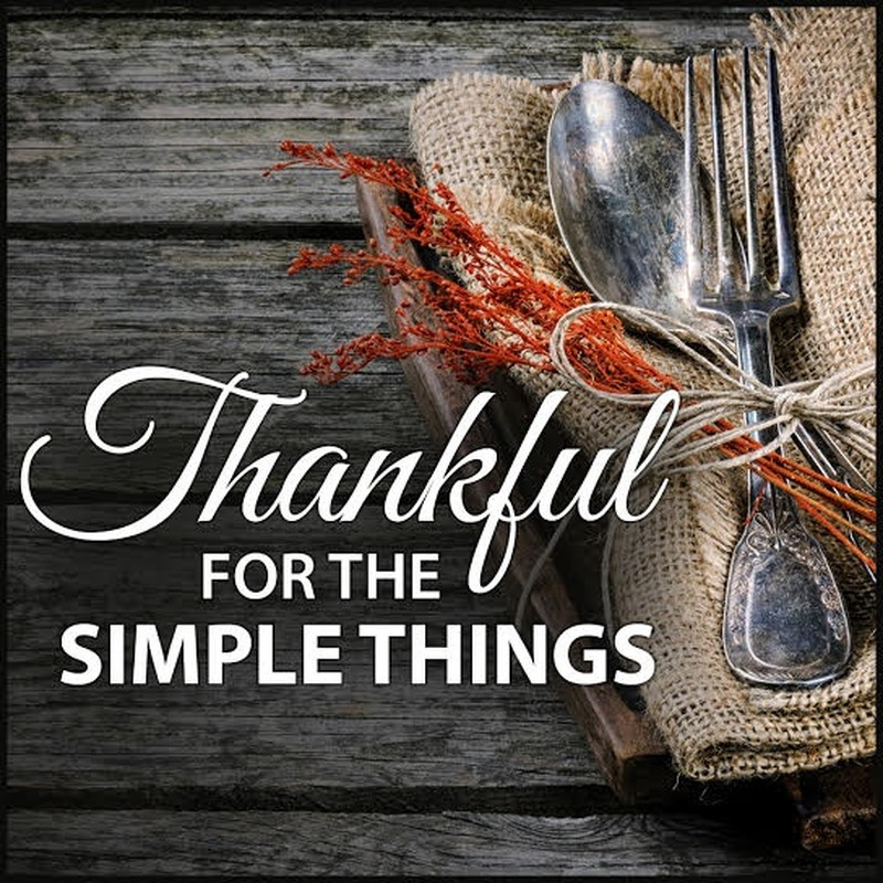 Thankful for the Simple Things