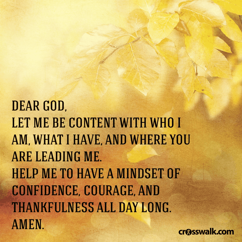 Let Me Be Content With Who I Am