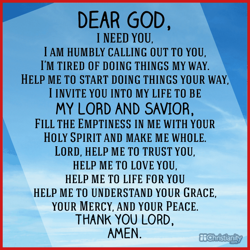 Dear God: I Need You