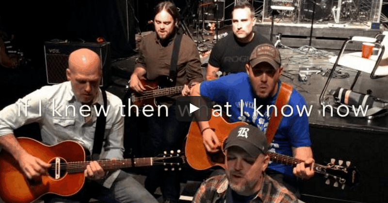 'Dear Younger Me' - Amazing Acoustic Hit From MercyMe