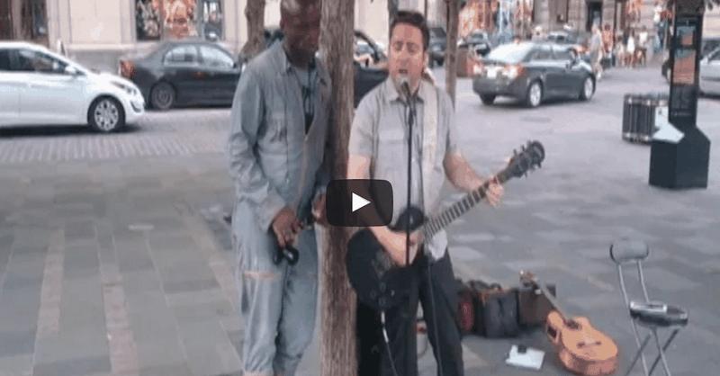Famous Singer Joins Street Performer For Impromptu Duet