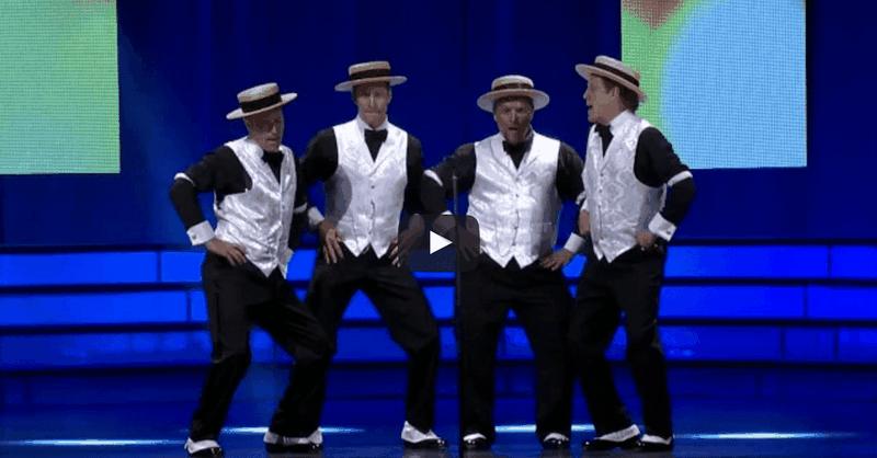 Barbershop Quartet Sings The Hilarious Evolution Of Dance