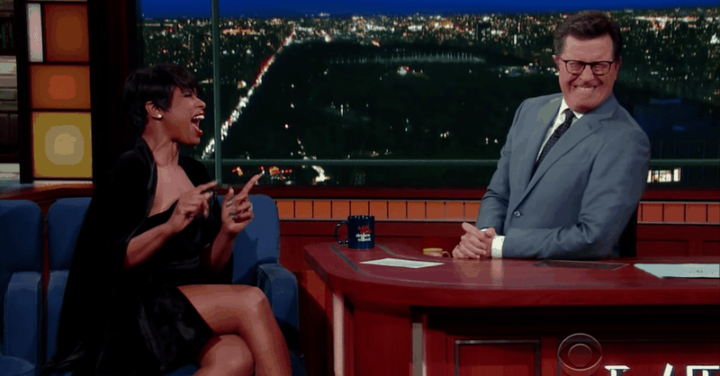 Jennifer Hudson Sings Her Favorite Hymn on Colbert's Late Show