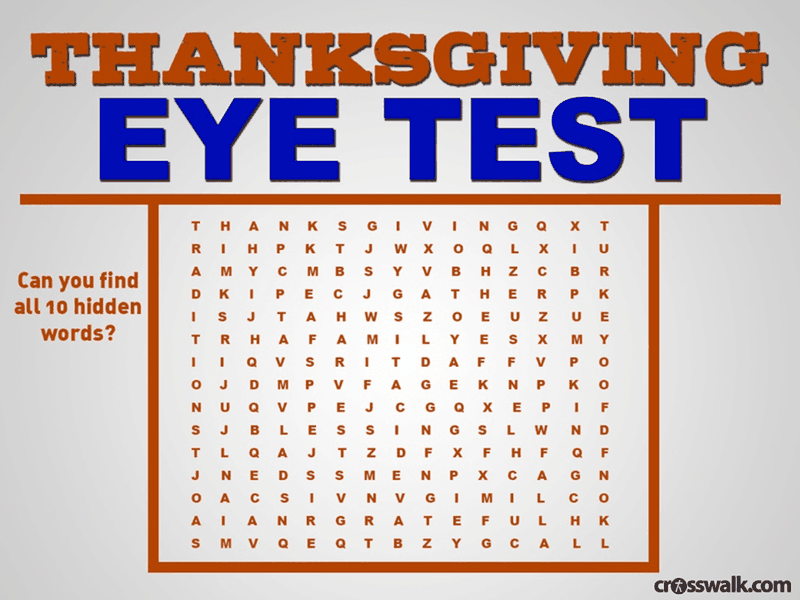 Thanksgiving Eye Test