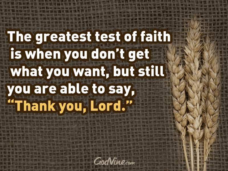 The Greatest Test of Faith