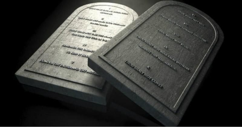 stone replica tablets for ten commandments