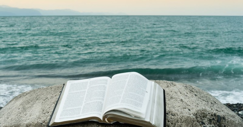 bible near an ocean, bible quotes