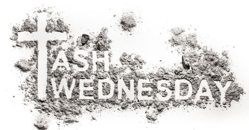 Ash Wednesday written in ashes