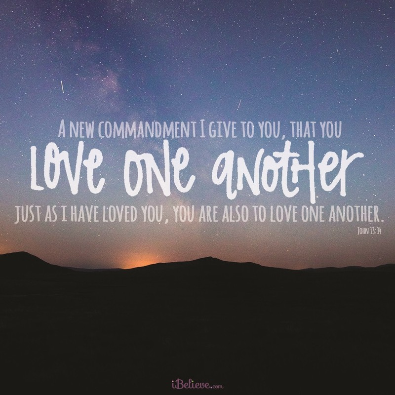Your Daily Verse - John 13:34