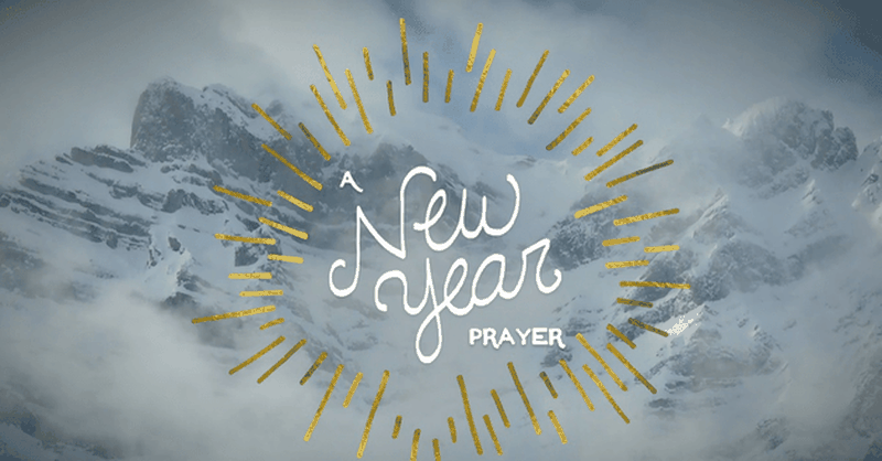 A New Year Prayer