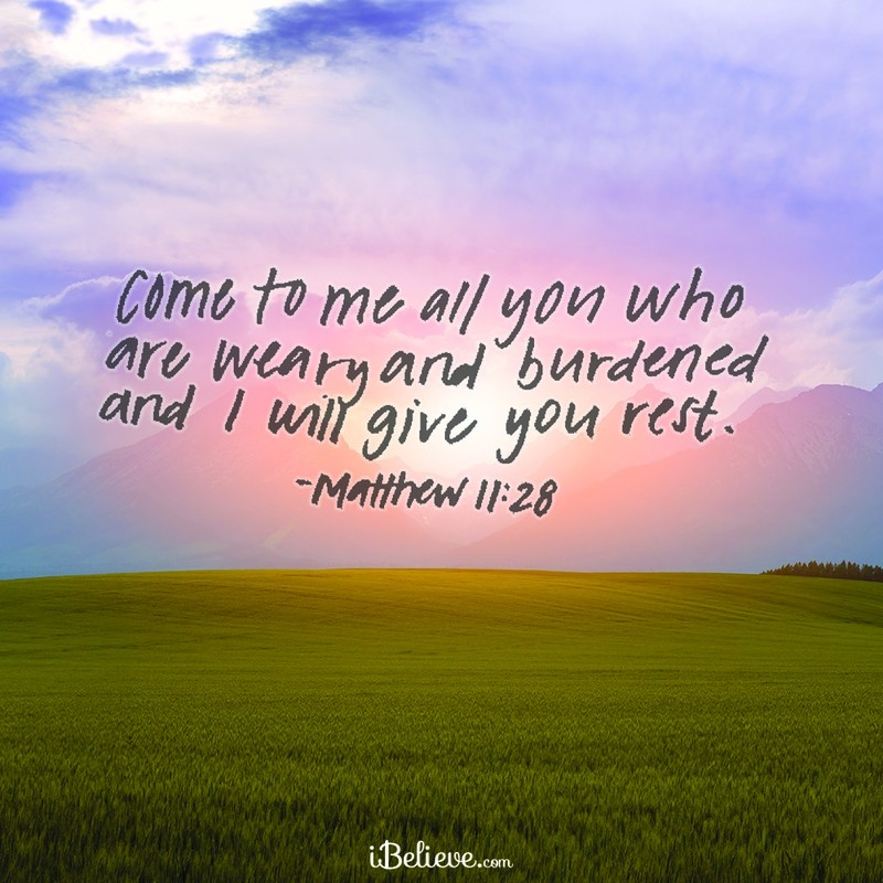 Come to Me All You Who are Weary and Burdened
