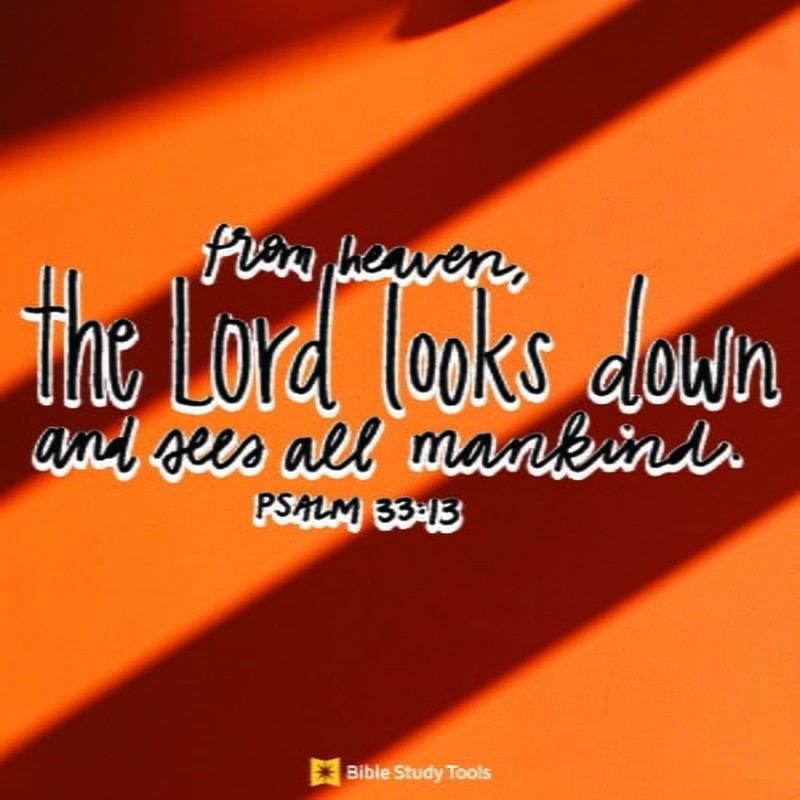 Your Daily Verse - Psalm 33:13
