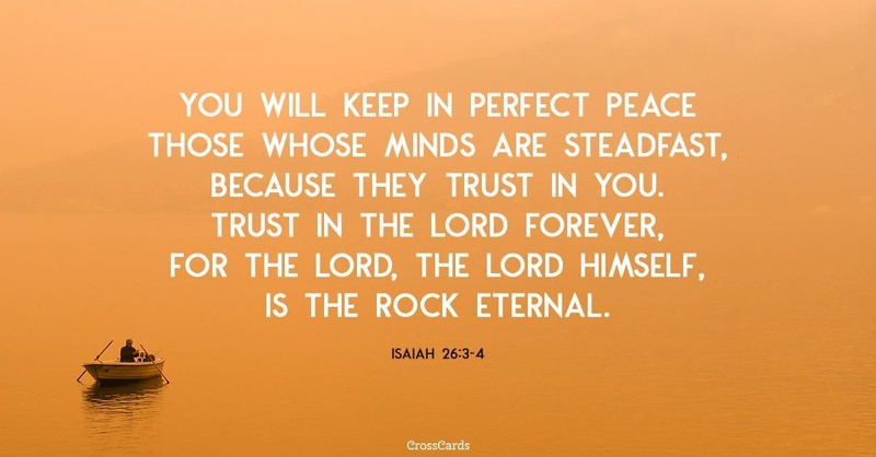 Your Daily Verse - Isaiah 26:3-4