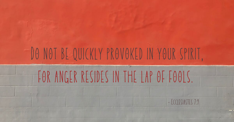Your Daily Verse - Ecclesiastes 7:9