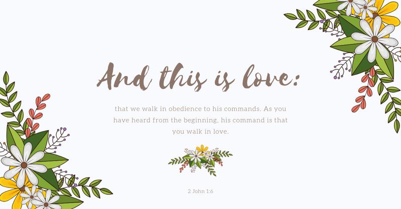 Your Daily Verse - 2 John 1:6