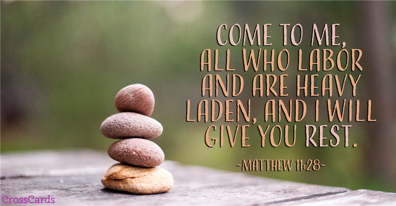 Your Daily Verse - Matthew 11:28