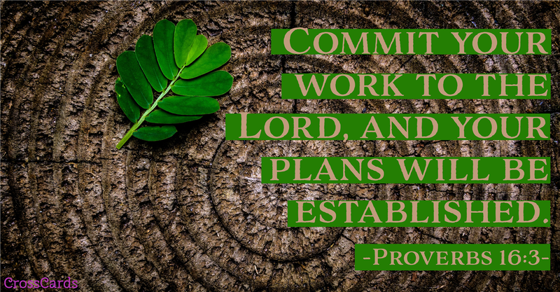Your Daily Verse - Proverbs 16:3