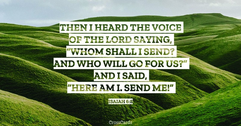 Your Daily Verse - Isaiah 6:8