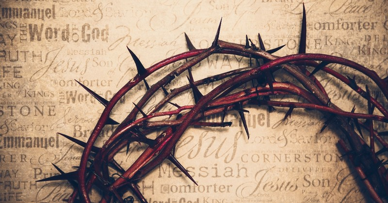 crown of thorns on paper with biblical terms Day of Atonement