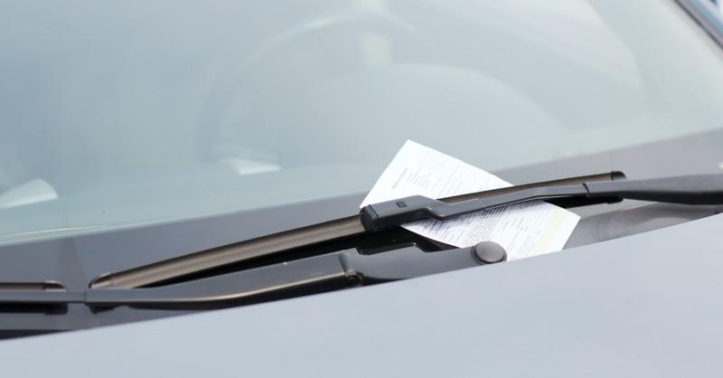 ticket on glass, expiation